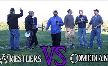wrestelers vs comedians disc golf