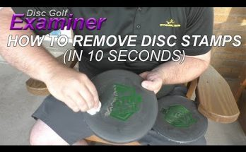 How to Remove the Stamp from a Disc Golf Disc