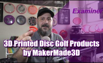 3D Printed Disc Golf Products by Maker Made 3D