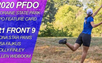 Pittsburgh Flying Disc Open FPO Round 1 Front 9 Feature Card