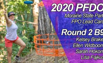 2020 PFDO FPO Lead Card - Round 2 Back 9